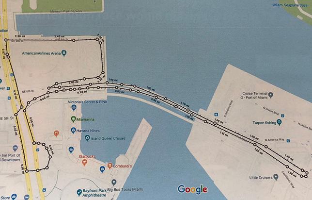 Проект трассы в Майами