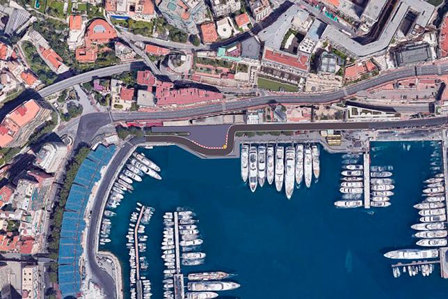 Один из вариантов изменения шиканы Nouvelle в Монако