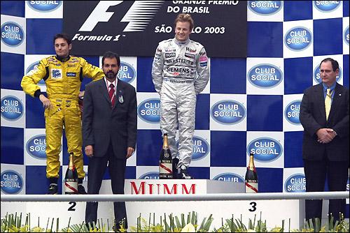 Подиум Гран При Бразилии'03
