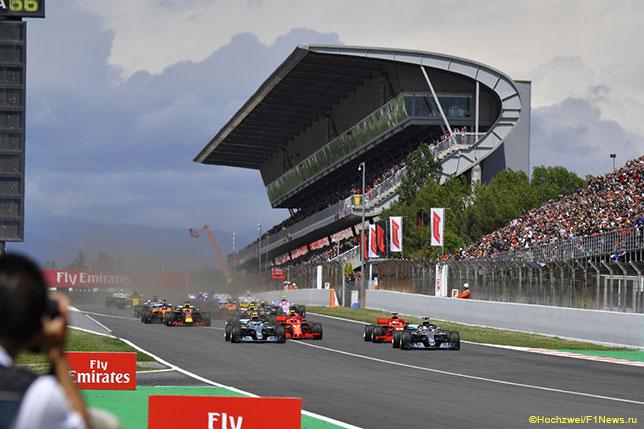Старт Гран При Испании 2018 года