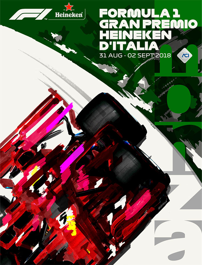 Официальный постер Гран При Италии 2019 года