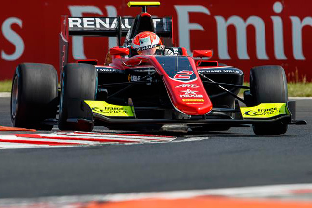 GP3: Юбер завоевал поул на Хунгароринге, Мазепин второй