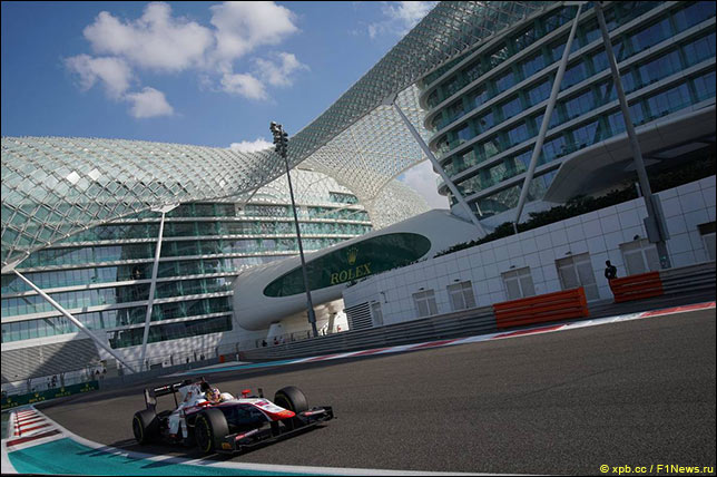 Тесты Формулы 2 и GP3 пройдут в Абу-Даби