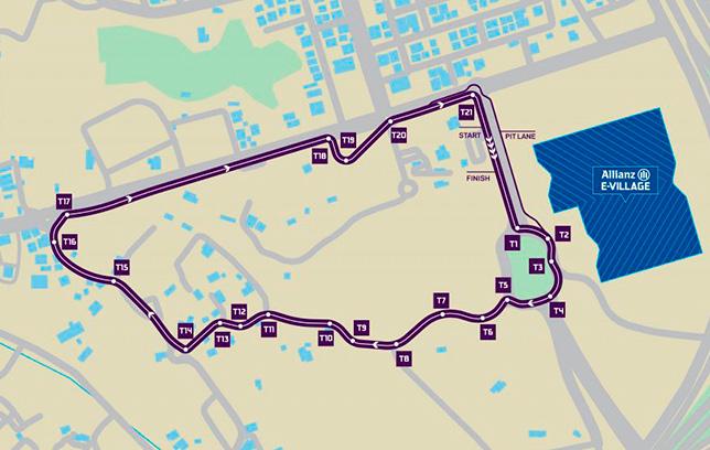 Конфигурация трассы в Эд-Диръия