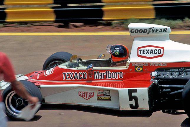 Эмерсон Фиттипальди на Гран При Бразилии 1974 года