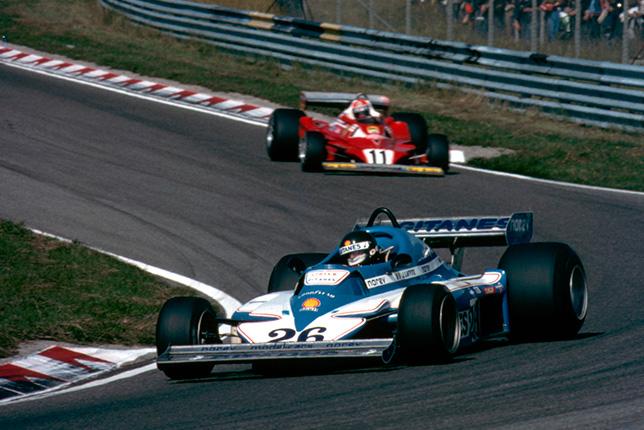 Жак Лаффит и Ники Лауда на Гран При Нидерландов 1977 года