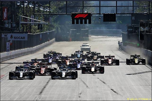 Старт Гран При Азербайджана 2019