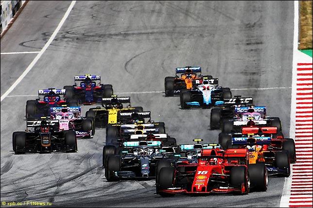 Старт Гран При Австрии 2019