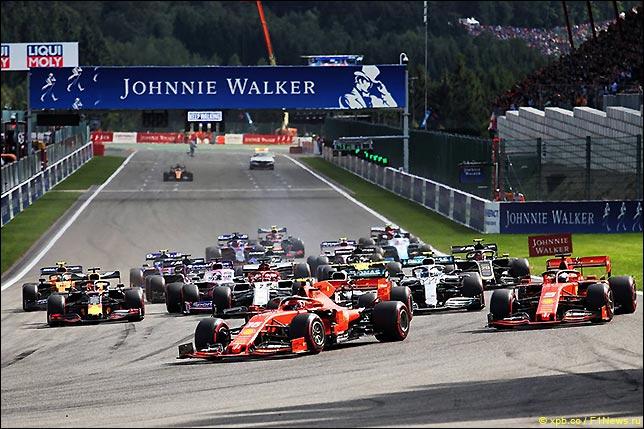 Старт Гран При Бельгии 2019
