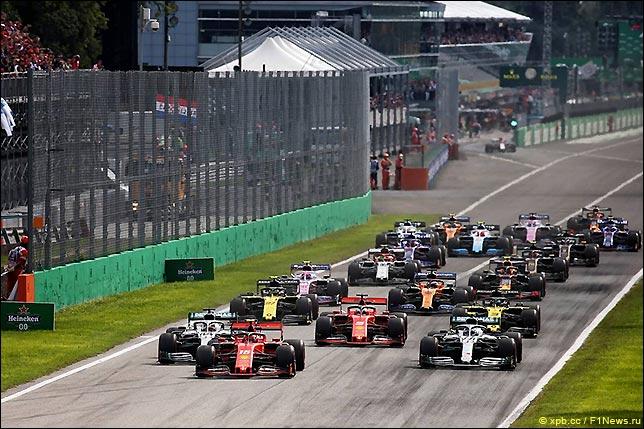 Старт Гран При Италии 2019