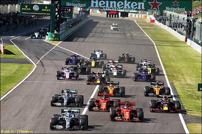 Старт Гран При Японии 2019