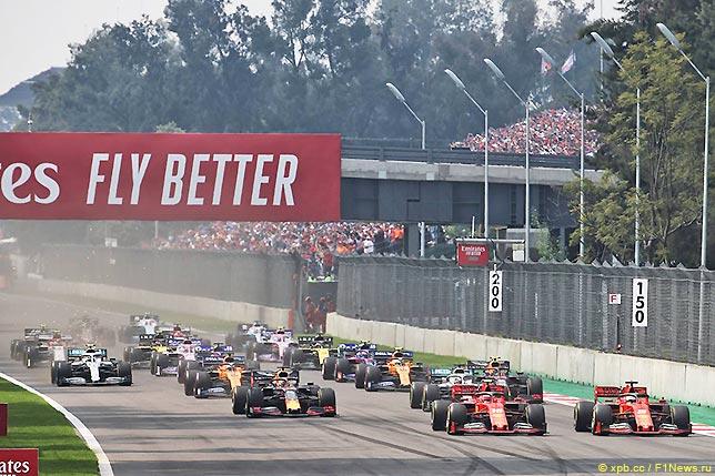 Старт Гран При Мексики 2019