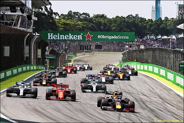 Старт Гран При Бразилии 2019