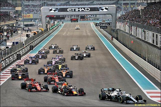 Старт Гран При Абу-Даби 2019