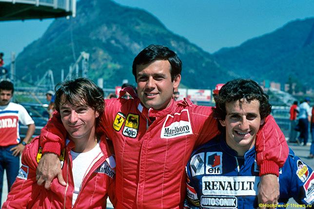 Рене Арну, Патрик Тамбэ и Ален Прост, 1983 год