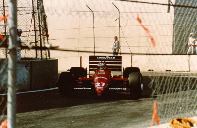 Микеле Альборето в Детройте, 1988 год. Фото Ferrari
