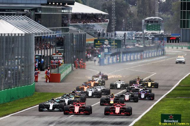 Старт Гран При Италии 2018 года