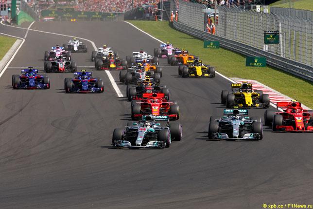 Старт Гран При Венгрии, 2018 год