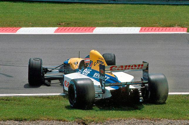 Вылет Найджела Мэнселла на Гран При Канады 1992 года. Фото Williams