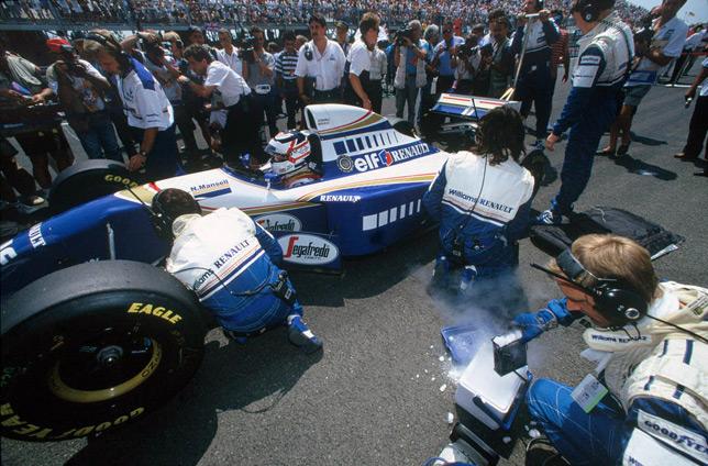 Найджел Мэнселл на стартовой решётке Гран При Франции 1994 года. Фото Williams