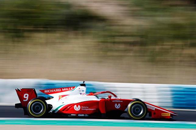 Ф2: Мик Шумахер завершил тесты с лучшим временем