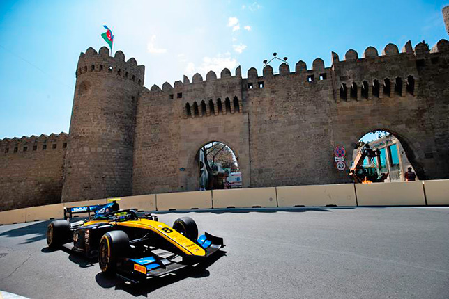 Лука Гиотто на трассе в Баку