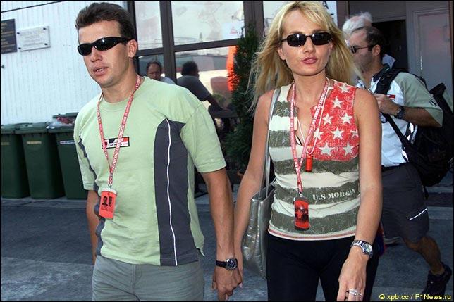 Оливье Панис с супругой