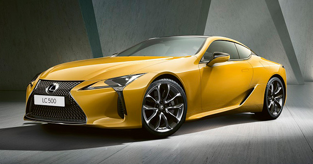 Lexus LC500 Yellow Edition