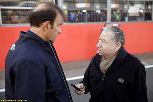 Эмануэле Пирро, работавший третьим стюардом в Канаде, и Жан Тодт, президент FIA