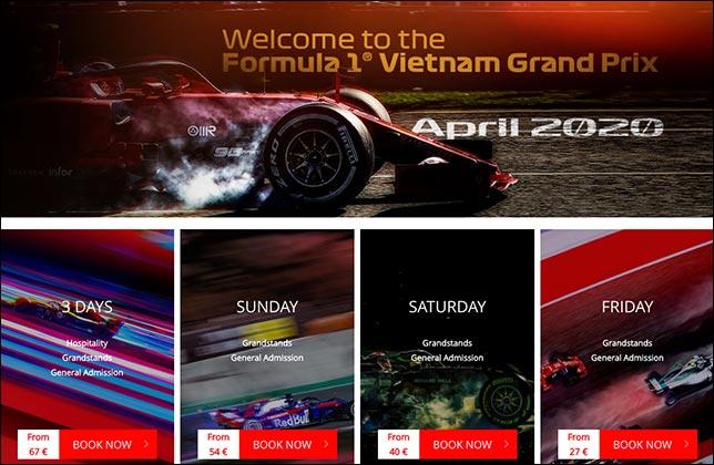 Билеты на Гран При Вьетнама поступили в продажу