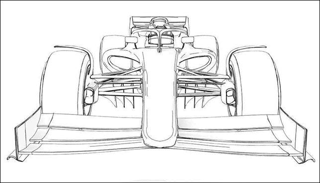 Эскиз внешнего вида машины 2021 года, FIA