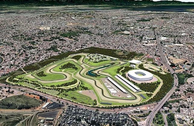 Проект автодрома в Рио (компьютерная графика)