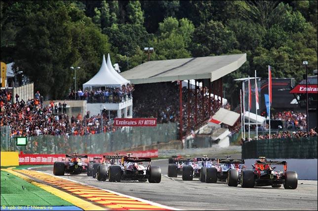 Леклер одержал победу Гран-при Бельгии, Квят— 7-мой