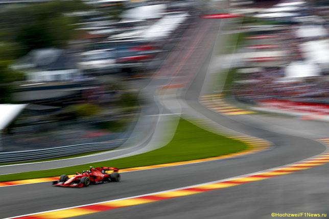 Шарль Леклер на трассе Гран При Бельгии