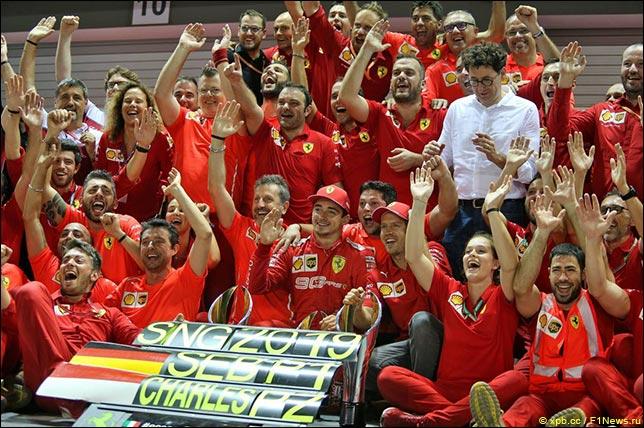 В Ferrari празднуют победный дубль