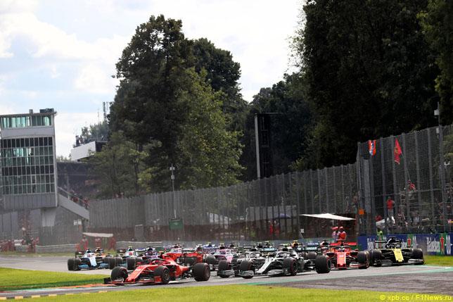 Старт Гран При Италии, 2019 год