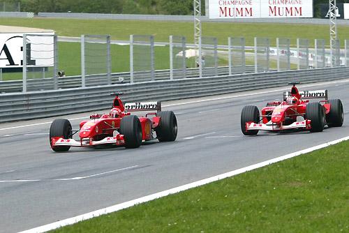 Финиш Гран При Австрии'02