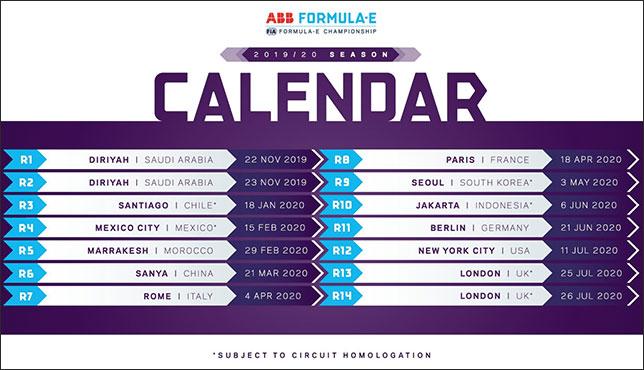 Формула E: Подтверждён календарь на сезон 2019/20