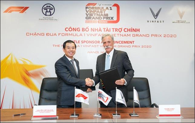 VinFast – титульный спонсор Гран При Вьетнама