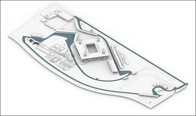Схема трассы на территории стадиона