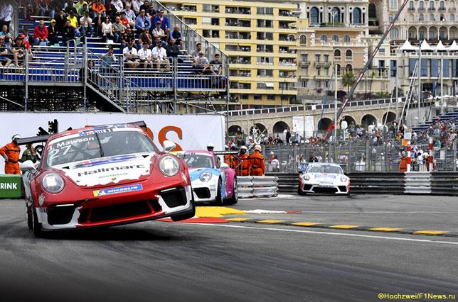 Эпизод гонки Porsche Supercup в Монако, 2019 год