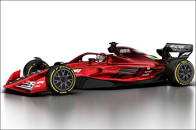 Компьютерная имитация внешнего вида машины 2021 года. Фото: официальный сайт Формулы 1