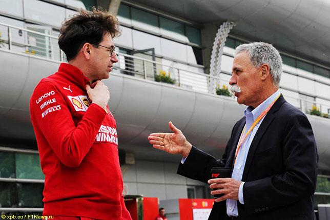 Маттиа Бинотто и Чейз Кэри, исполнительный директор Формулы 1