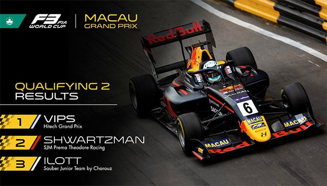 Юри Випс на трассе в Макао, фото пресс-службы Формулы 3