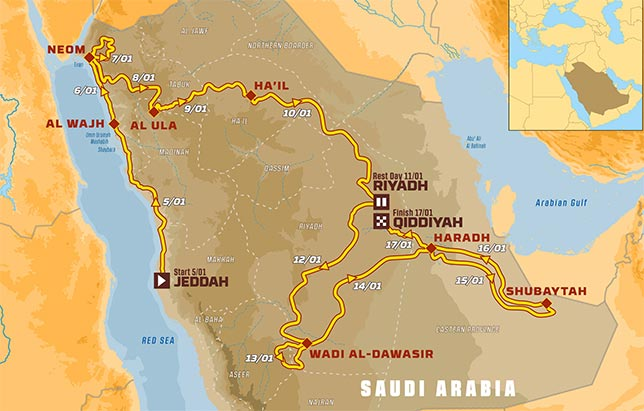 Представлен маршрут ралли-рейда Дакар 2020 года