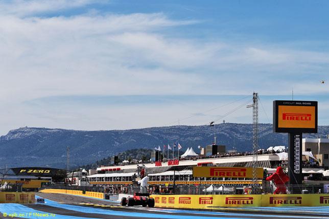 Себастьян Феттель на Гран При Франции
