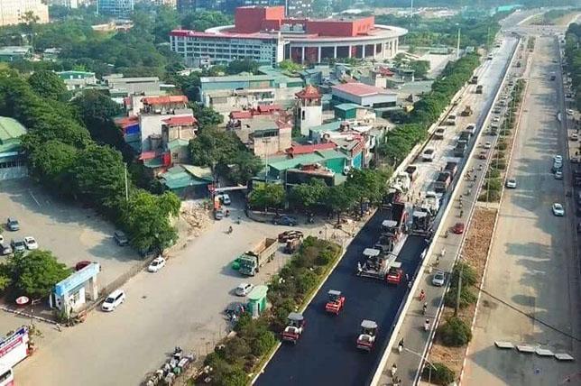 Строительство трассы в Ханое