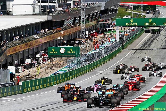 Старт Гран При Австрии 2020