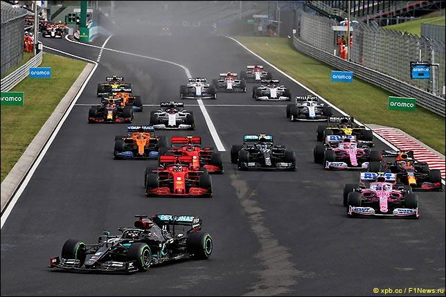Старт Гран При Венгрии 2020