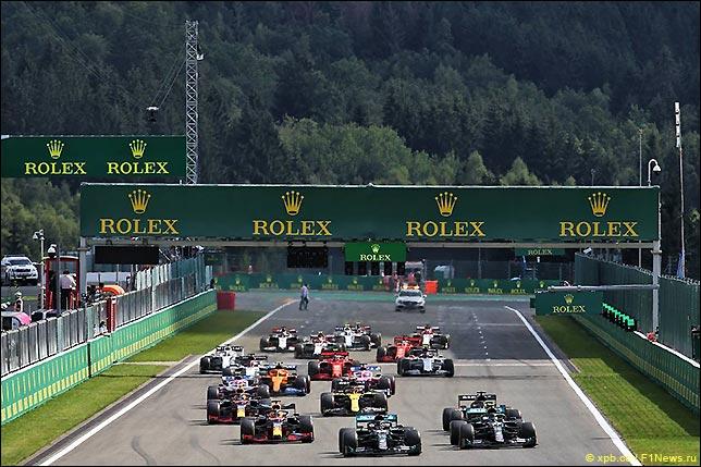 Старт Гран При Бельгии 2020